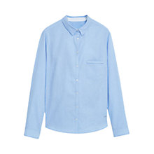 Buy Violeta by Mango Cotton Shirt, Light Pastel Blue Online at johnlewis.com