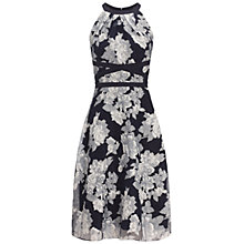 Buy Adrianna Papell Floral Halter Dress, Navy/Ivory Online at johnlewis.com