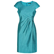 Buy Precis Petite Crinkle Shift Dress, Mid Blue Online at johnlewis.com