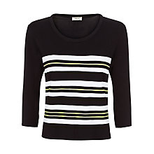Buy Precis Petite Stripe Placement Jumper, Multi Green Online at johnlewis.com