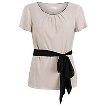 Buy Jacques Vert Textured Belted Blouse, Mid Neutral Online at johnlewis.com