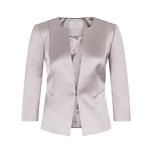 Buy Jacques Vert Petite Sateen Jacket, Mid Neutral Online at johnlewis.com