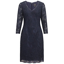 Buy Adrianna Papell Lace Sheath Dress, Navy Online at johnlewis.com