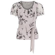 Buy Jacques Vert Petite Soft Etched Floral Top, Mid Neutral Online at johnlewis.com