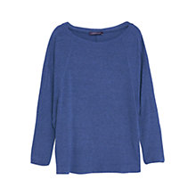 Buy Violeta by Mango Ribbed Top, Bright Blue Online at johnlewis.com