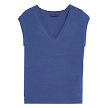 Buy Violeta by Mango Flowy T-Shirt, Bright Blue Online at johnlewis.com