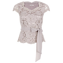Buy Jacques Vert Petite Opulent Lace Top, Mid Neutral Online at johnlewis.com