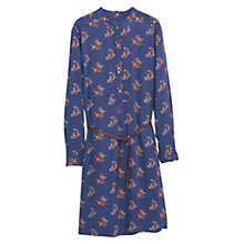 Buy Violeta by Mango Paisley Print Dress, Bright Blue Online at johnlewis.com