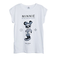 Buy Mango Printed Cotton T-Shirt, Natural White Online at johnlewis.com