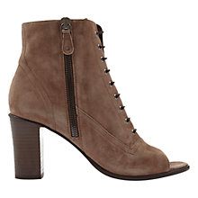 Buy Mint Velvet Narinda Peep Toe Shoe Boots Online at johnlewis.com