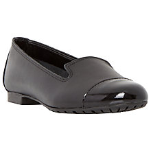 Buy Dune Genevieve Leather Ballet Pumps, Black Online at johnlewis.com
