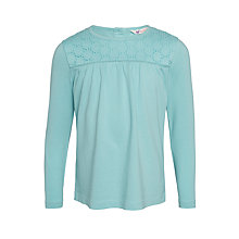 Buy John Lewis Girls' Broderie Long Sleeve T-Shirt Online at johnlewis.com