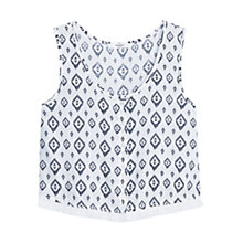 Buy Mango Printed Top, Natural White Online at johnlewis.com
