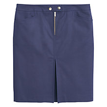 Buy Violeta by Mango Back Vent Mini Skirt, Medium Blue Online at johnlewis.com