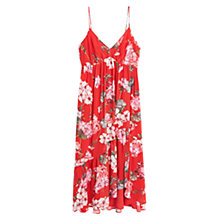 Buy Mango Floral Print Dress, Medium Pink Online at johnlewis.com