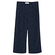 Buy Mango Printed Wide-Leg Trousers, Navy Online at johnlewis.com