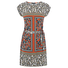Buy Warehouse Blocked Paisley Tunic Dress, Orange Online at johnlewis.com