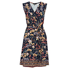 Buy Warehouse Border Floral Dress, Navy Online at johnlewis.com