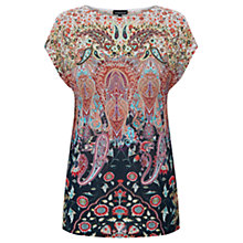 Buy Warehouse Paisley Print Square T-Shirt, Multi Online at johnlewis.com