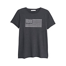 Buy Mango Printed T-Shirt, Dark Grey Online at johnlewis.com