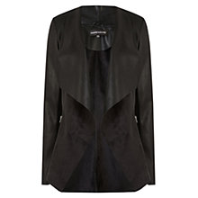 Buy Warehouse Waterfall Zip Jacket, Black Online at johnlewis.com
