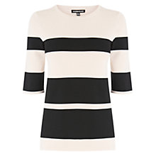 Buy Warehouse Graduated Stripe Jumper, Blue Stripe Online at johnlewis.com