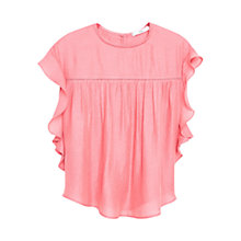 Buy Mango Decorative Ruffle Blouse, Medium Red Online at johnlewis.com