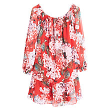 Buy Mango Floral Print Dress, Pink Online at johnlewis.com