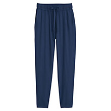 Buy Mango Flowy Baggy Trousers, Medium Blue Online at johnlewis.com
