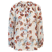 Buy Warehouse Printed Pleated Top, Multi Online at johnlewis.com
