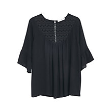 Buy Mango Blonde Lace Panel Blouse Online at johnlewis.com