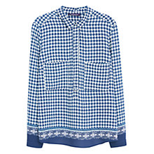 Buy Violeta by Mango Mosaic Print Blouse, Medium Blue Online at johnlewis.com