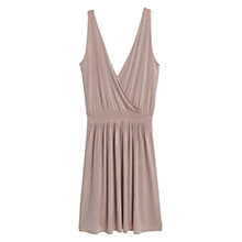 Buy Mango Wrap Neckline Dress, Pastel Pink Online at johnlewis.com