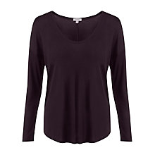 Buy Jigsaw Tencel Rib Mix Slouchy Top Online at johnlewis.com