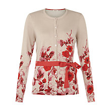 Buy Kaliko Oriental Bloom Print Cardigan, Multi/Cream Online at johnlewis.com