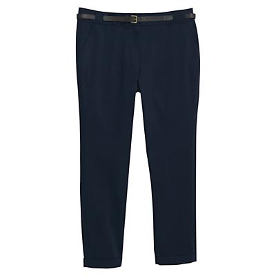 Violeta by Mango Cotton Suit Trousers, Navy