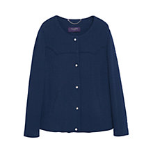 Buy Violeta by Mango Textured Cotton Blend Jacket, Navy Online at johnlewis.com