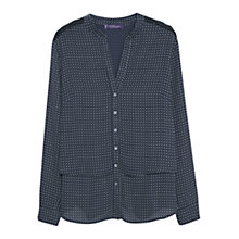 Buy Violeta by Mango Polka Dot Print Blouse, Navy Online at johnlewis.com