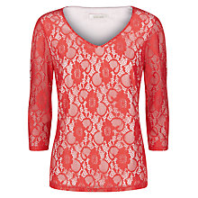 Buy Kaliko Lace Top, Bright Red Online at johnlewis.com