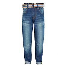Buy John Lewis Boys' Rolled Hem Jeans, Blue Online at johnlewis.com