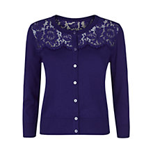 Buy Hobbs Fife Cardigan, Dark Violet Online at johnlewis.com