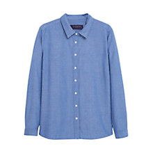Buy Violeta by Mango Geometric Denim Shirt, Open Blue Online at johnlewis.com