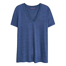 Buy Violeta by Mango Neck Detail T-Shirt, Navy Online at johnlewis.com