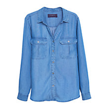 Buy Violeta by Mango Denim Shirt, Open Blue Online at johnlewis.com