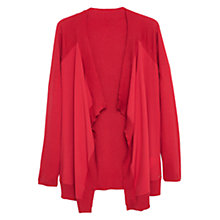 Buy Violeta by Mango Contrast Panel Cardigan, Medium Red Online at johnlewis.com