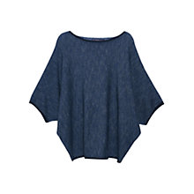 Buy Violeta by Mango Metallic Thread Jumper, Navy Online at johnlewis.com