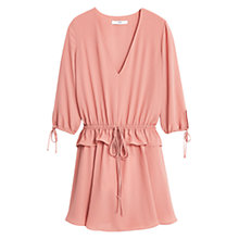 Buy Mango Textured Skater Dress, Light Pastel Orange Online at johnlewis.com