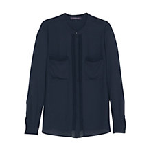 Buy Violeta by Mango Patch Pocket Blouse, Navy Online at johnlewis.com