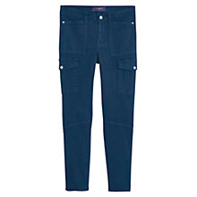Buy Violeta by Mango Cotton Cargo Trousers, Navy Online at johnlewis.com