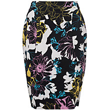 Buy French Connection Botanical Print Pencil Skirt, Black/Multi Online at johnlewis.com